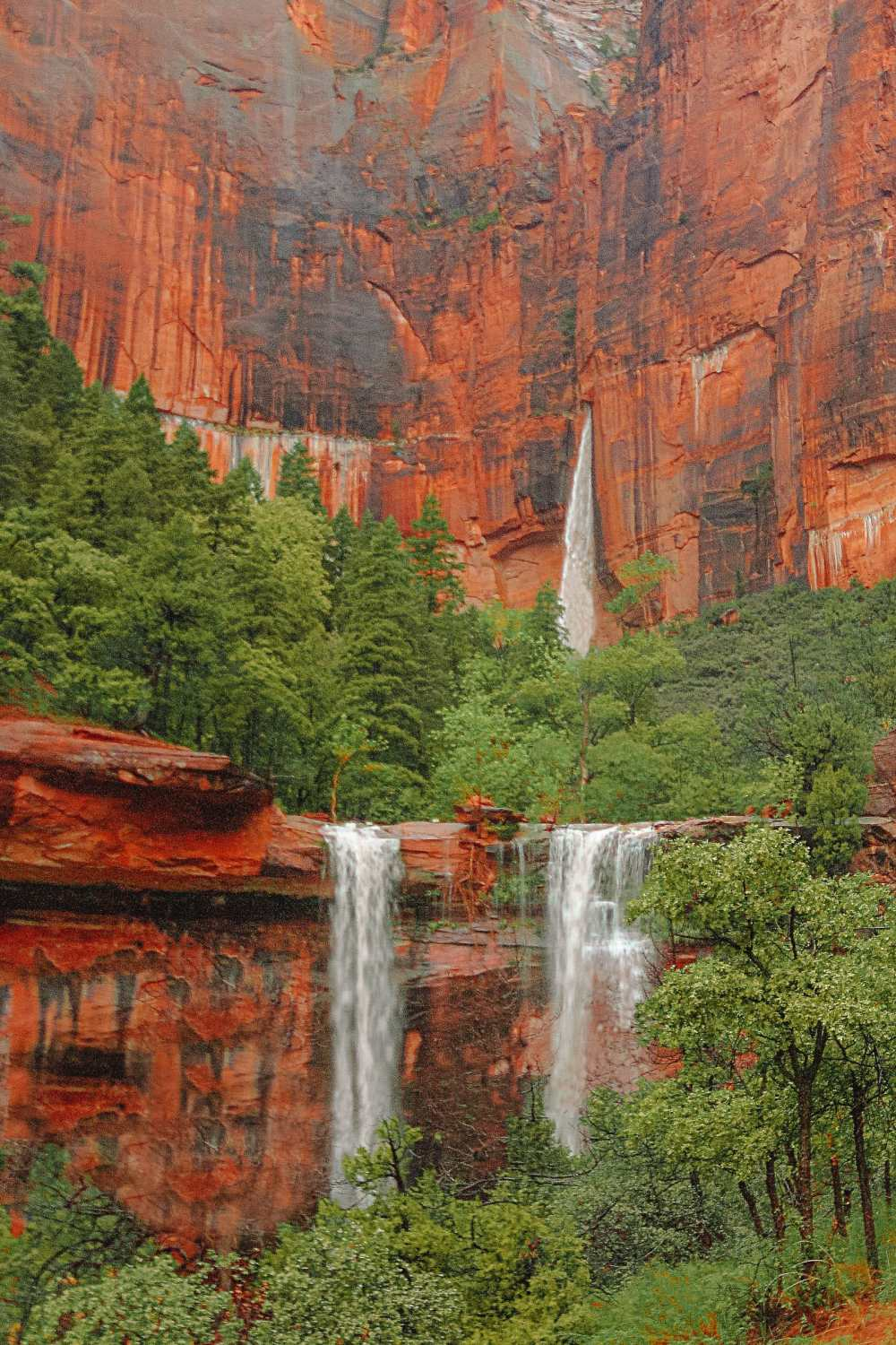 Waterfall In Zion National Park