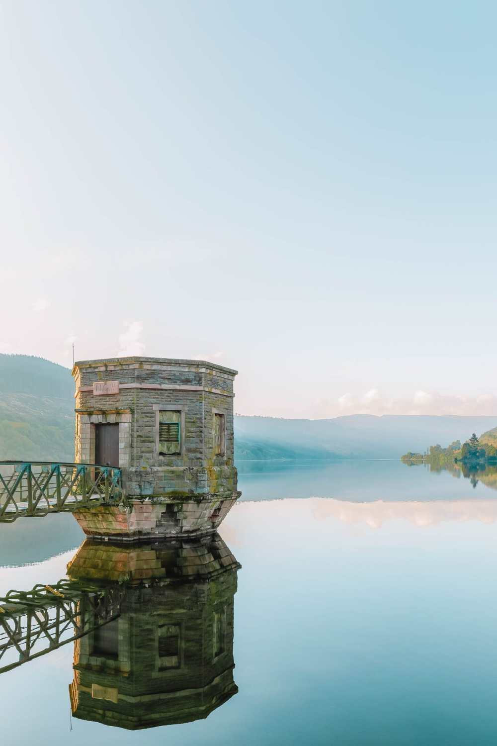 Talybont Reservoir in the Brecon Beacons