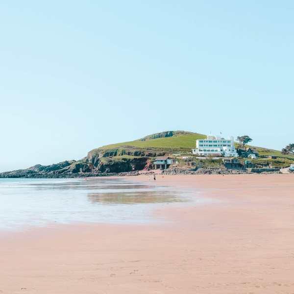 beaches in England Burgh Island Devon