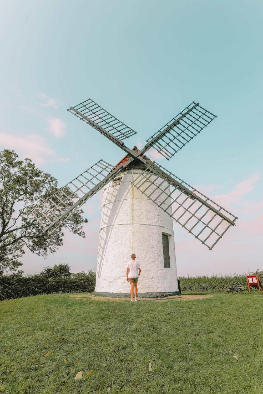 Ashton Windmill near city of Wells