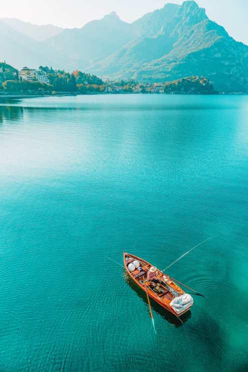 Boating in Lake Como