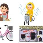 【お薦め自転車カゴカバー】前カゴ・後ろカゴカバー、荷物が多くても雨でもOK