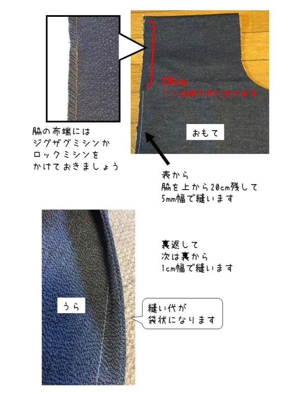 買い物バッグ・作り方  (2)