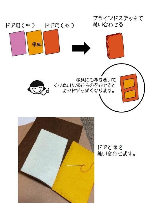 布絵本・仕掛け・作り方(ドア①)