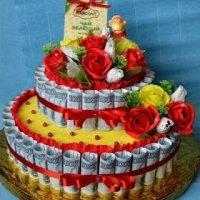 Денежный торт из купюр (МК)