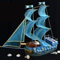 Как сделать корабль из конфет своими руками - МК и идеи