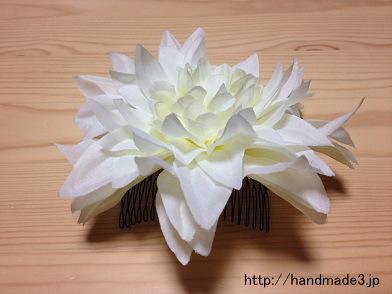 造花で髪飾りを作ってみた