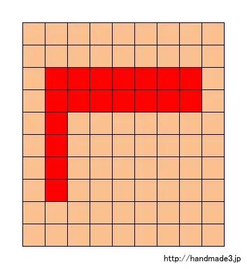 Lのアルファベット文字の図案