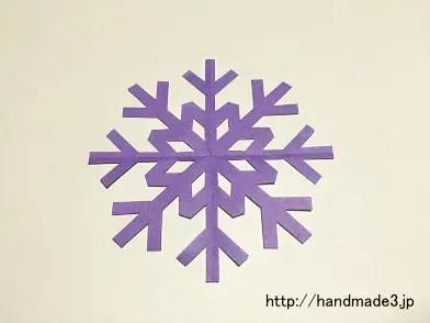 雪の結晶の切り紙