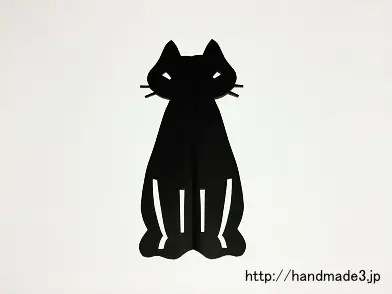 折り紙でハロウィンの黒猫の切り紙を作った