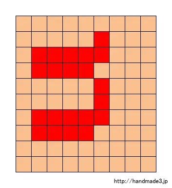 nのアルファベット文字の図案