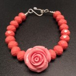Pink and Coral Bracelet