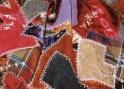 Vintage fabrics hand-sewn