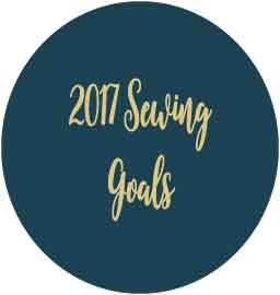 2017 Goals & January Sewing Plans