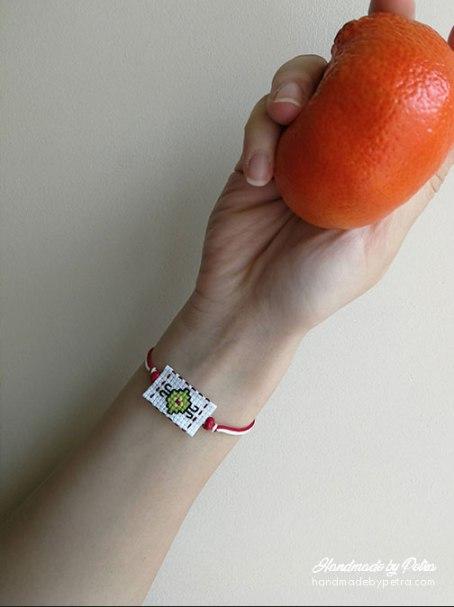 Мартеница за ръка с шевица - handmadebypetra.com