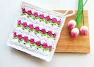 crochet tulip stitch dishcloth