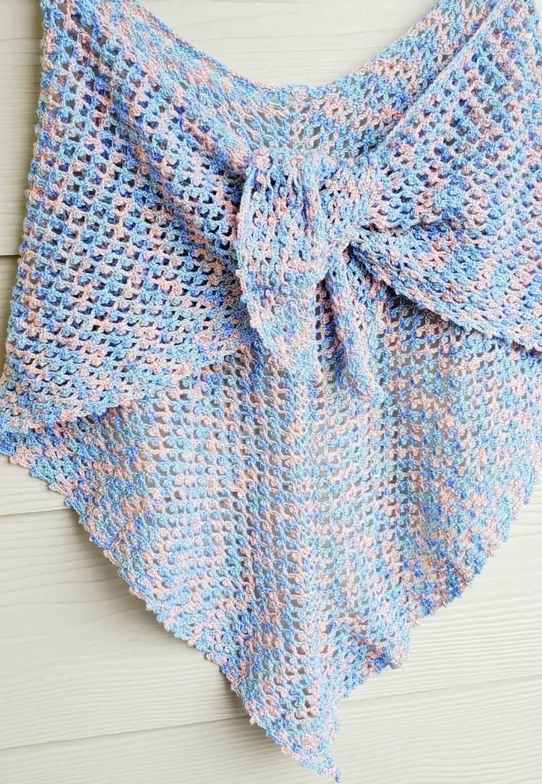 How to crochet Picot Mesh Shawl