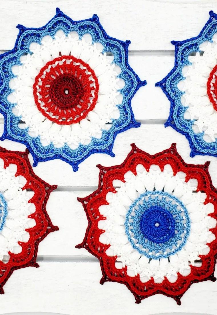 How to crochet American Rosette