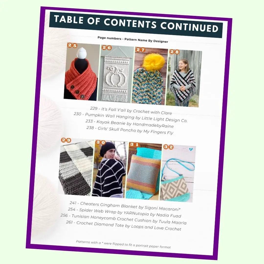 fall crochet pattern bundle