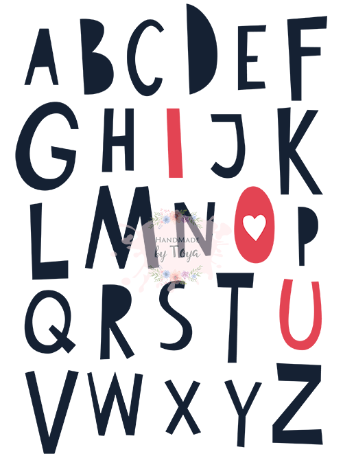 Download I Love You ABC SVG, DXF & PNG - Handmade by Toya