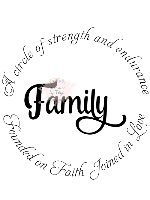 Download A Circle of Strength And Endurance Family SVG, DXF & PNG ...