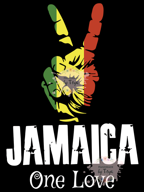 Download Jamaica One Love Peace Sign SVG & PNG - Handmade by Toya