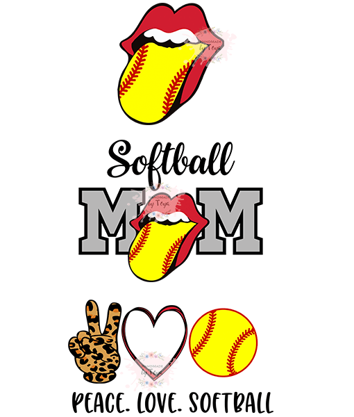 Download Peace. Love. Softball. Lips Bundle SVG, DXF & PNG ...