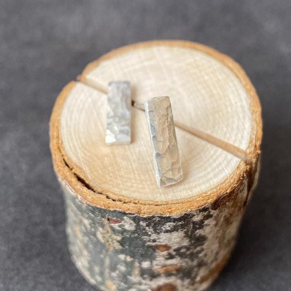 Cicee Creative Handmade Sterling Silver Hammered Stud Earrings