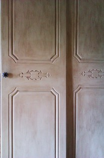 Antiqued doors