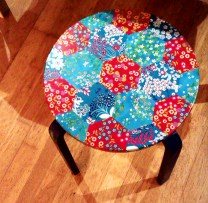 patchwork stool