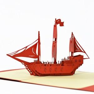 3D Boat Pop-up Card Model