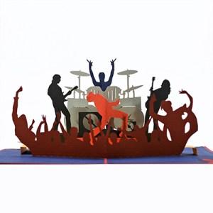 Rock Band popup Card