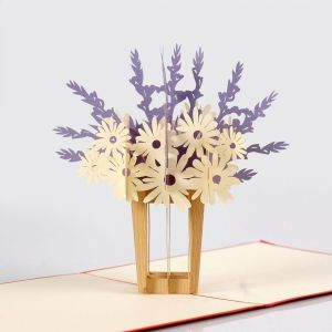 flower popup card 3d