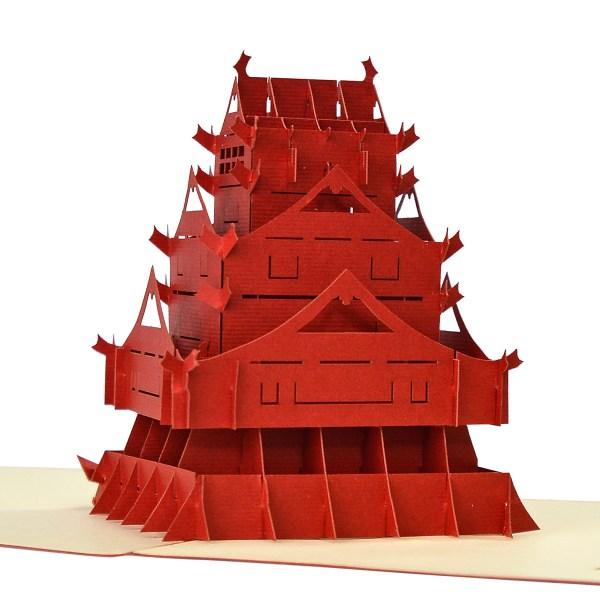 Kumamoto 3d model popup card