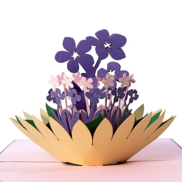 Flower lapis popup card