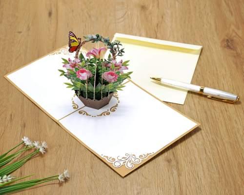3D card flower