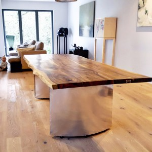 Live-edge European Walnut + Elliptic Legs, Berkshire