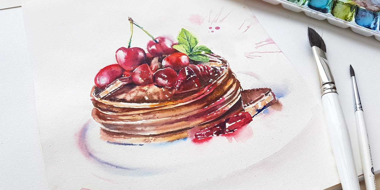 Watercolour Masterclass – Desserts