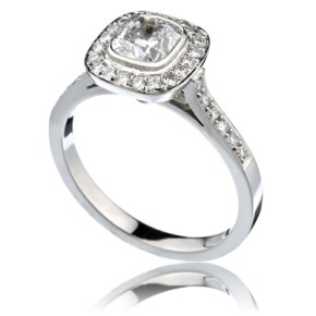 "Cushion Diamond ""Circle"" Ring"