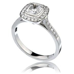 "Cushion Diamond ""Circle"" Ring"