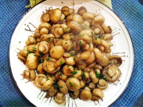 (無添加食譜分享)爆香蘑菇