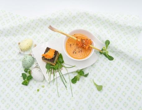 Karotten-Vogerlsalat Törtchen