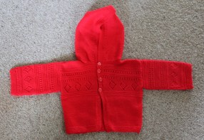 Awesome red hooded cardigan