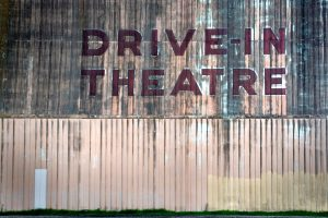drive-in theater sign