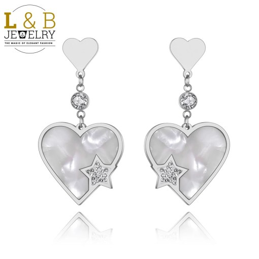 Cercei Love & Heart Stainless Steel Color
