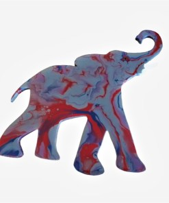 "Decoratiune animal perete, Elefant, ""Tim"", 52 x 34 x 1cm, Pictat manual abstract"