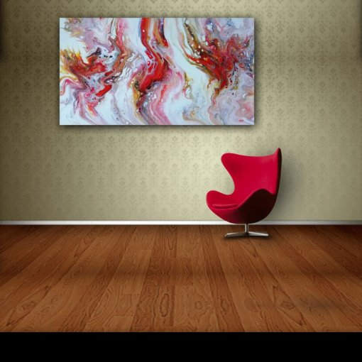 Tripple Emotions,  30 x 50 cm, Multicolor, Abstract