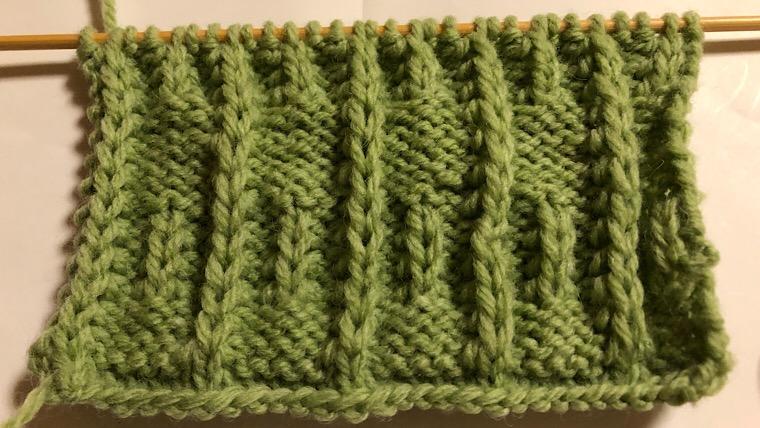 引き上げ編み模様