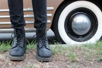 Pants (Savers, $6.99) Boots (Dr.Martens, $134.99)