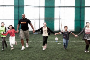 Robins Tchale Watchou - rugby activity in Mitrovica